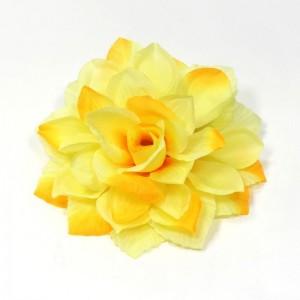 AB-127 Ansteckblume Dahlie, zitronengelb, 13 cm_a
