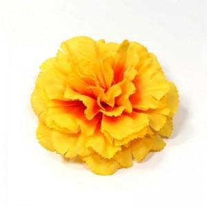 AB-128 Ansteckblume Nelke, gelb-orange, 9 cm_a