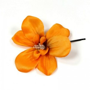 AB-133 Haarblüte, orange, 9 cm_a