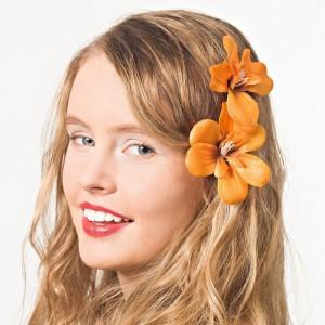 AB-133 Haarblüte, orange, 9 cm_b
