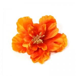 AB-134 Haarblüte Hibiskus, orange, 11 cm_a