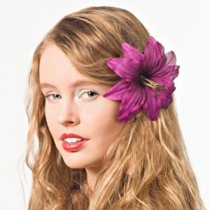AB-136 Haarblüte Lilie, violett, 12 cm_b
