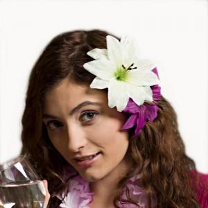 AB-137 Haarblüte Lilie, creme-mint, 12 cm_b